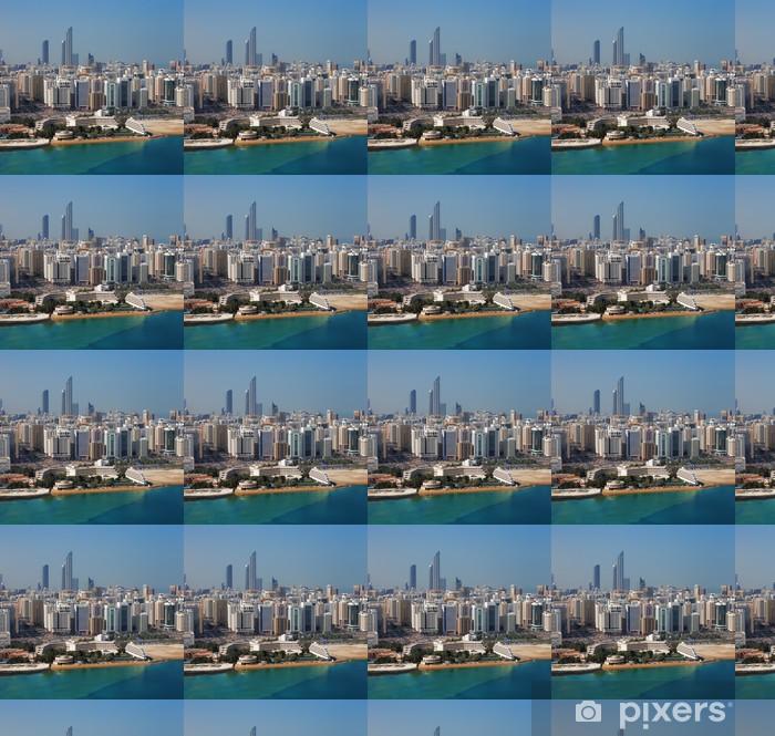 Papier peint vinyle sur mesure Une vue horizon d'Abou Dhabi, capitale des Emirats Arabes Unis - Moyen Orient