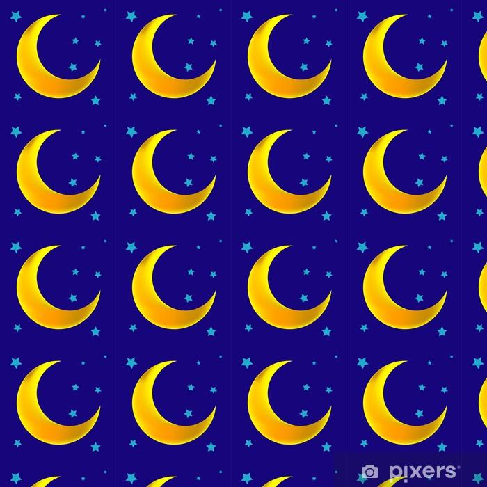 Papier peint vinyle sur mesure Croissant de lune - Espace