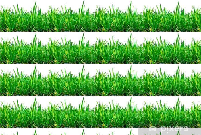 Vinyltapete nach Maß Stiele von Gras isoliert auf weißem Hintergrund. - Jahreszeiten