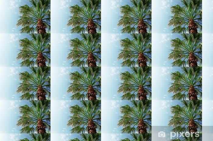 Papier peint vinyle sur mesure Palmier sur fond de ciel bleu - Saisons