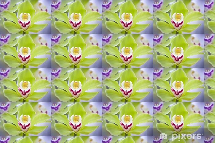 Papier peint vinyle sur mesure Belles orchidées - Thèmes