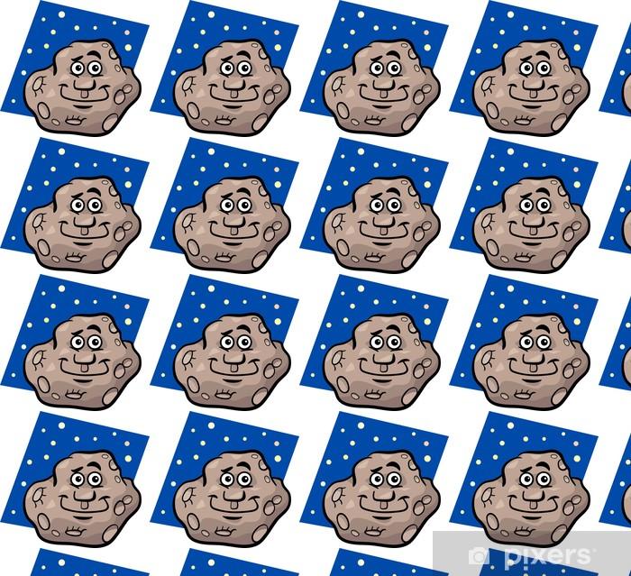 Vinyltapete nach Maß Funny Asteroiden Karikaturillustration - Weltall