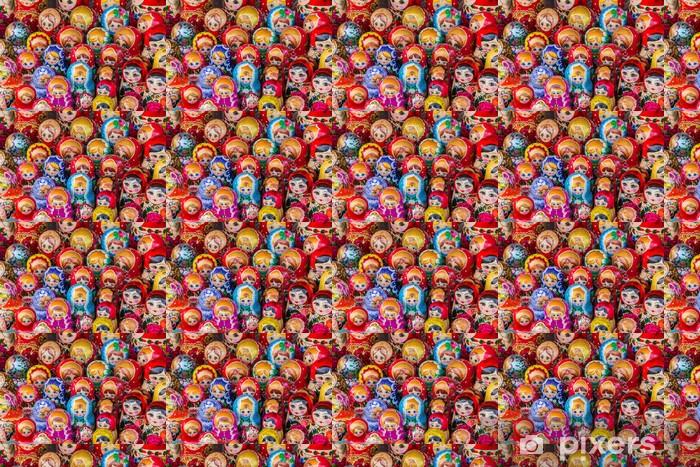 Tapeta na wymiar winylowa Kolorowe rosyjski drewniane lalki - Azja