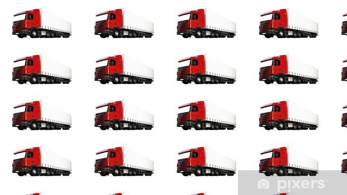 Tapeta na wymiar winylowa Ciężarówka na białym - Transport drogowy