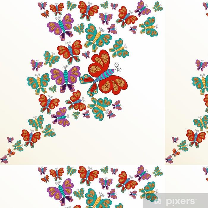 Vinylová Tapeta Jarní motýl stříkající - Roční období