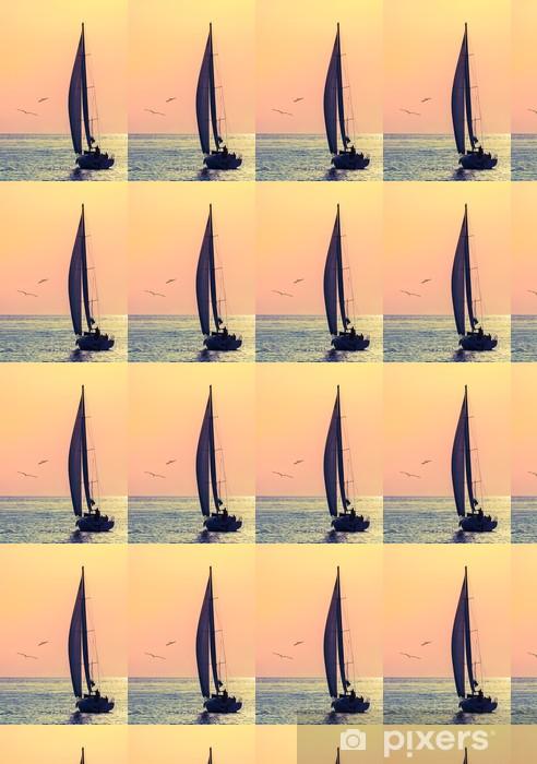 Vinylová tapeta na míru Panorama plachetnice a dva racek - Vodní sporty