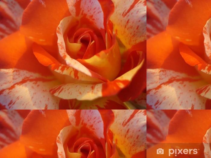 Vinylová Tapeta Pestrobarevný oranžové růže - Štěstí