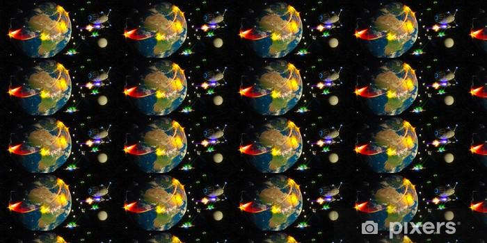 Papier peint vinyle sur mesure Guerre de l'espace - Espace