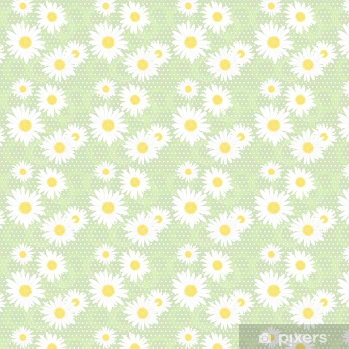 Papier peint vinyle sur mesure Seamless avec Camomiles - Fleurs