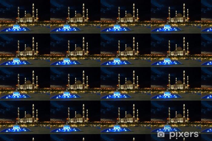 Tapeta na wymiar winylowa Astana, nocny krajobraz z widokiem na meczet Hazrat Sultan - Azja