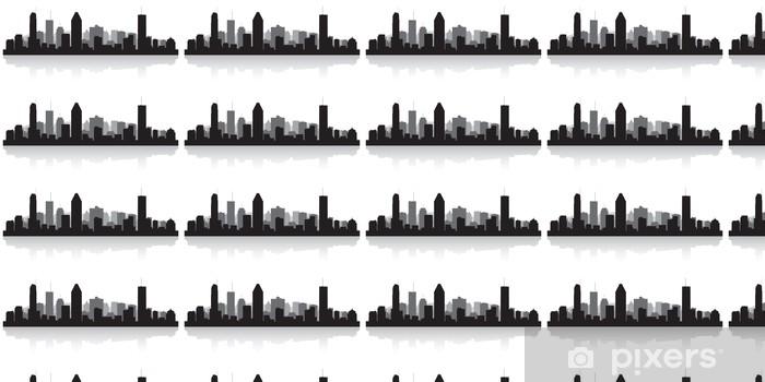 Vinylová tapeta na míru Montreal Kanada městské panorama vektor silueta - Amerika