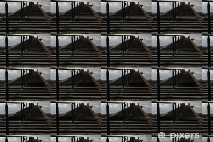 Papier peint vinyle sur mesure Le quai de Roscoff en Bretagne - Religion