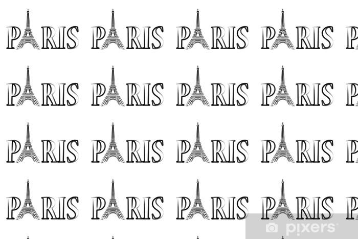 Vinylová tapeta na míru Paříž - Eiffelova věž - Evropská města