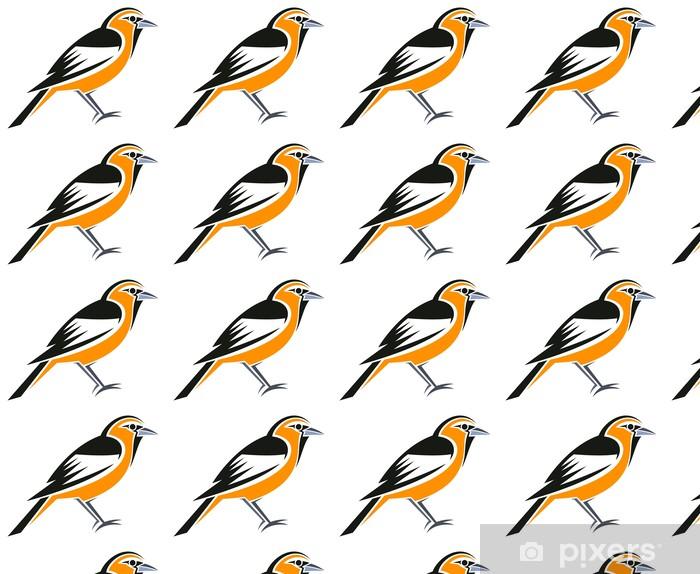 Papier peint vinyle sur mesure Oriole à ailes blanches - Oiseaux
