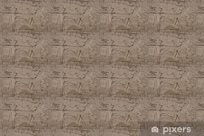 Papier peint vinyle sur mesure Hiéroglyphes de Louxor en Egypte - Monuments