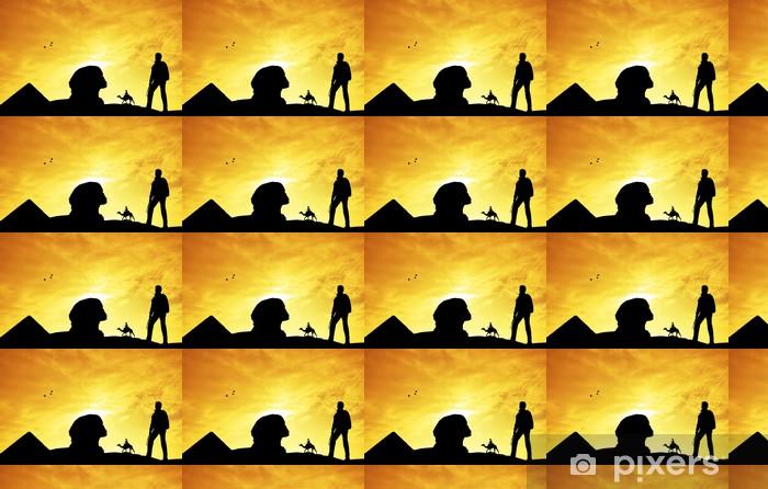 Papier peint vinyle sur mesure Grand sphinx - Afrique
