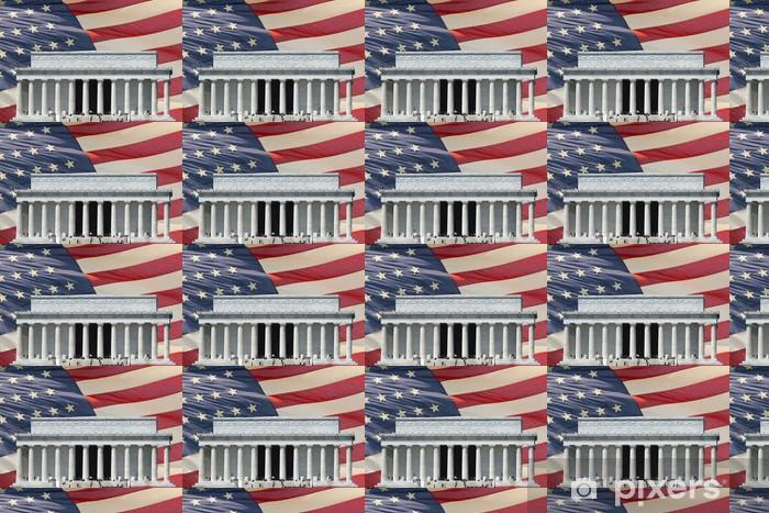 Papier peint vinyle sur mesure Washington DC, le Memorial étoiles et rayures drapeau - Bâtiments publics