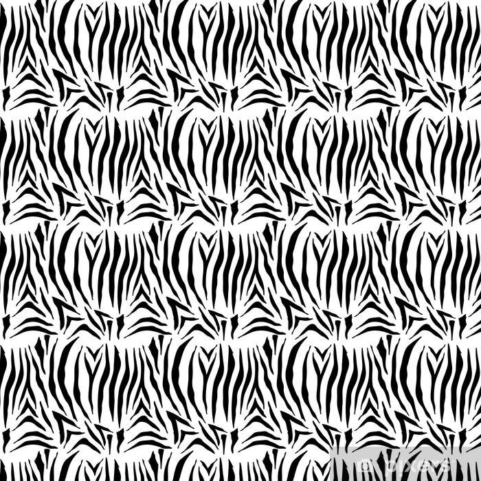 Papel pintado estándar a medida Patrón de cebra sin costura - Fondos