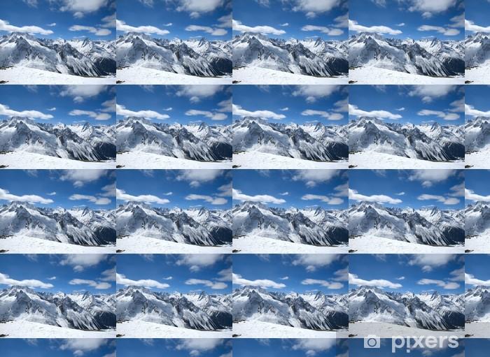 Papier peint vinyle sur mesure Belles hautes montagnes du Caucase - Sports d'hiver