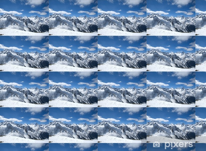 Tapeta na wymiar winylowa Piękne wysokie góry Kaukazu - Sporty zimowe