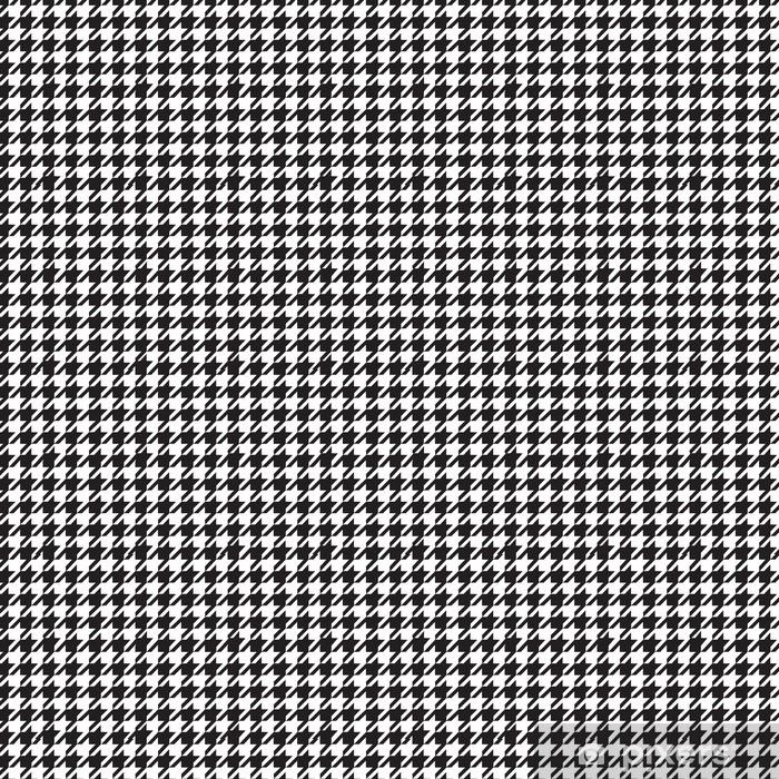 Tapete Hahnentritt Muster In Schwarz Und 14
