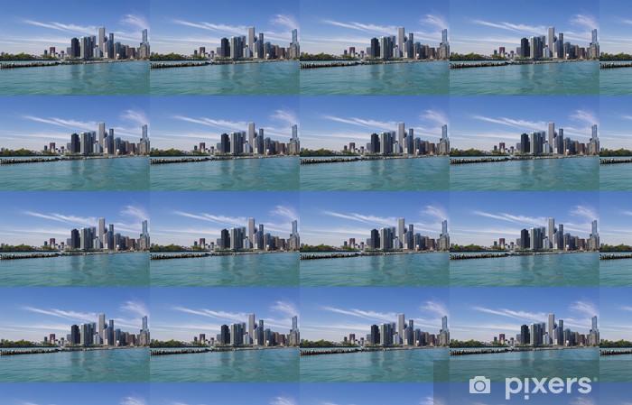 Papier peint vinyle sur mesure Horizon de Chicago - Amérique