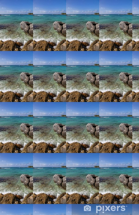 Papel pintado estándar a medida Playa de roca - América