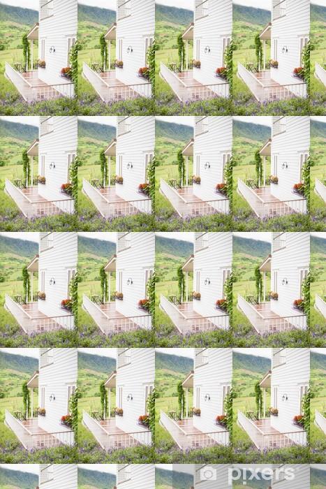 Papier peint vinyle sur mesure Floral balcon de jardin - Paysages urbains