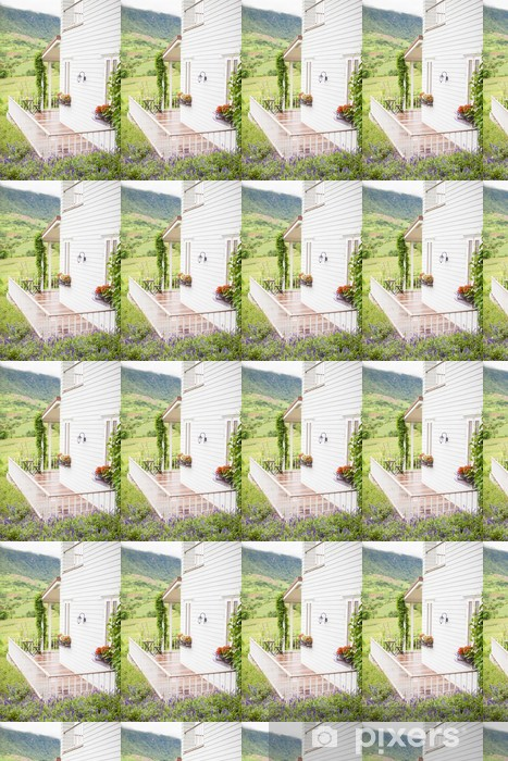 Tapeta na wymiar winylowa Kwiatowy ogród, balkon - Pejzaż miejski