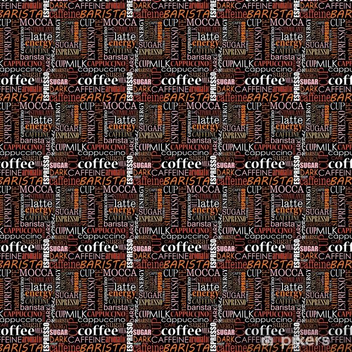 Vinylová tapeta na míru Bezešvé pozadí s kávou značky - Do kavárny