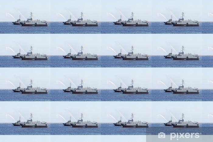 Papier peint vinyle sur mesure Les navires militaires. - Thèmes