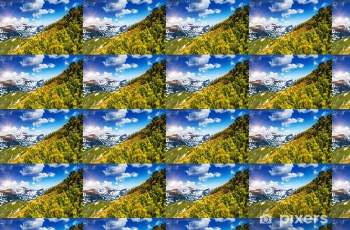 Papier peint vinyle sur mesure Paysage montagne - Saisons