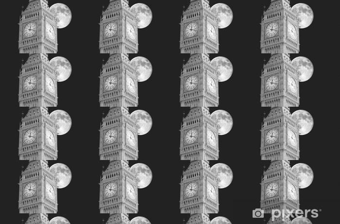 Papier peint vinyle sur mesure Big Ben lune - Thèmes