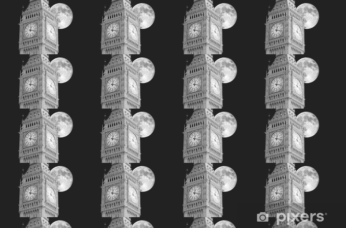 Vinyltapete nach Maß Big Ben Mond - Themen