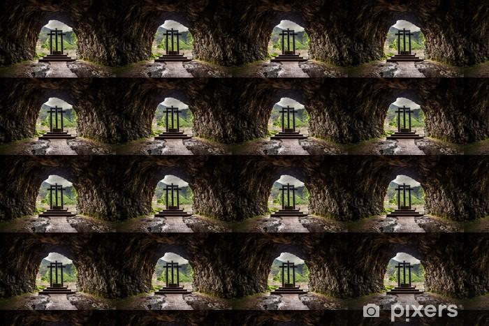 Tapeta na wymiar winylowa Trzech Krzyży w Covadonga, Asturia, Hiszpania. - Religie