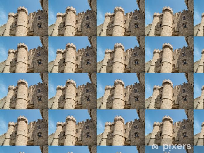 Papier peint vinyle sur mesure Château de la vieille ville de Rhodes en Grèce - Europe