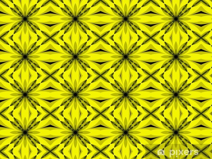 Papier peint vinyle sur mesure Ornement d'abstraction dans des couleurs de citron - Autres sentiments