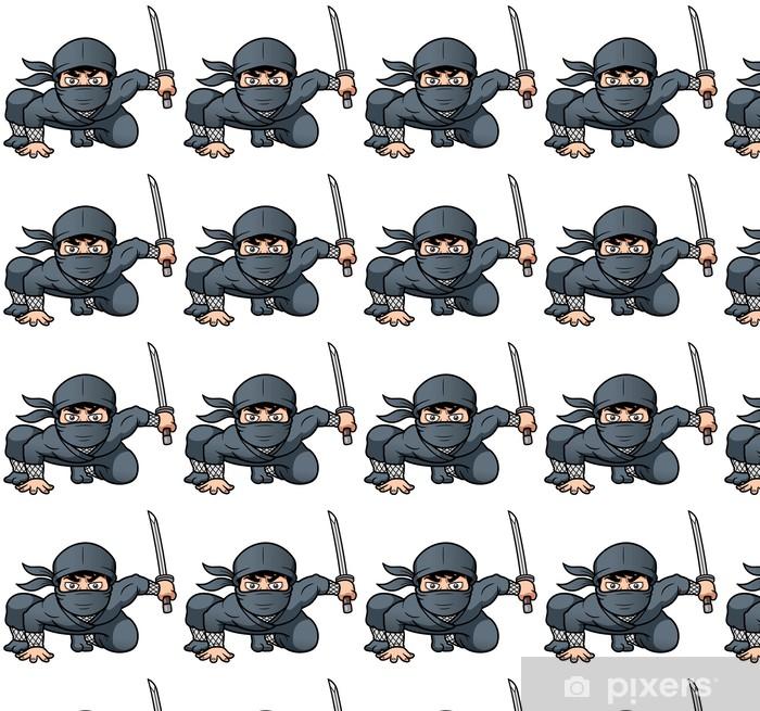 Papier peint vinyle sur mesure Vector illustration de Ninja de bande dessinée - Au travail