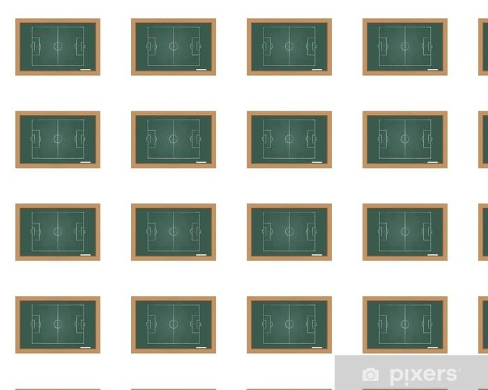 Papier peint vinyle sur mesure Tableau avec un terrain de football - Réussite