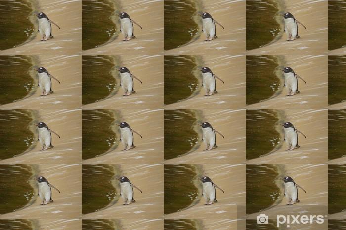 Papier peint vinyle sur mesure Gentoo Penguin - Pygoscelis Papouasie - Oiseaux