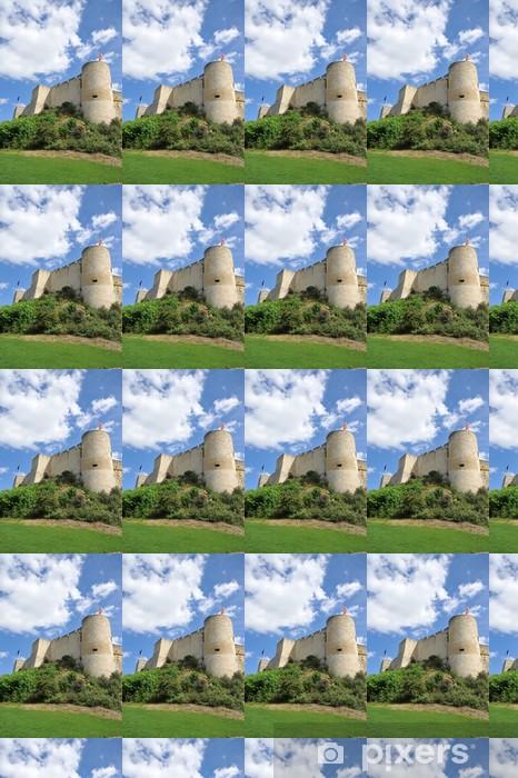 Papier peint vinyle sur mesure Remparts Nord-Ouest et tour Puchot Château de Caen 2 - Monuments