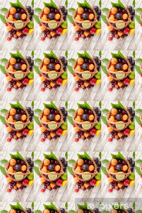 Papier peint vinyle sur mesure Fresh fruit - Fruits