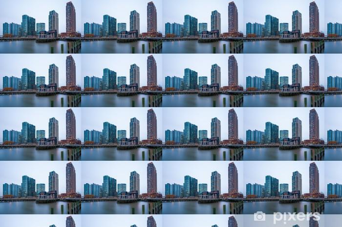 Vinyl behang, op maat gemaakt De gebouwen van de lange eiland voor de East River - Amerikaanse steden