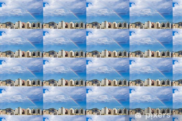 Tapeta na wymiar winylowa Hong Kong Skyline z tęczy - Miasta azjatyckie