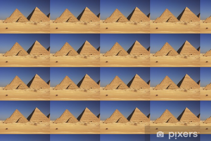 Vinyl behang, op maat gemaakt Piramides van Gizeh, Caïro - Afrika