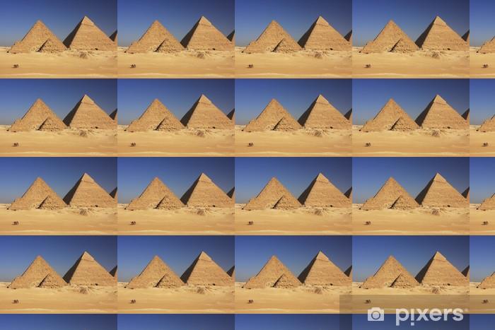 Tapeta na wymiar winylowa Piramidy w Gizie, Kair - Afryka