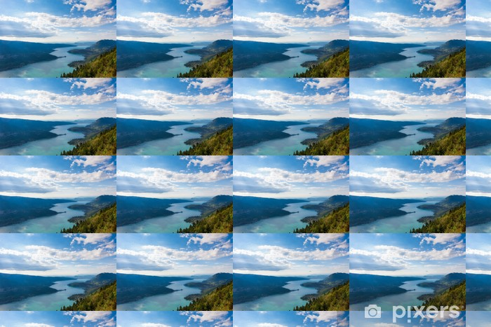Vinyltapete nach Maß Blick auf den See von Annecy vom Col du Forclaz - iStaging