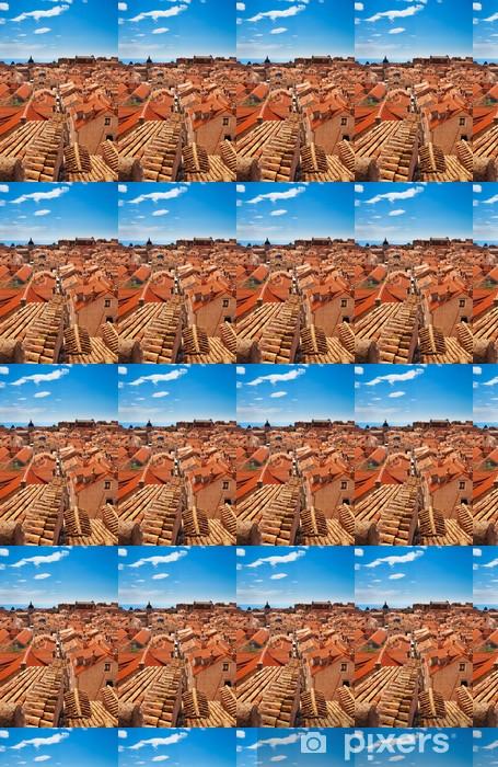 Vinyltapete nach Maß Ansicht über Dubrovnik Dächer - Europa