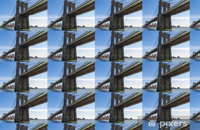 Papier peint vinyle sur mesure Pont de Brooklyn à New York, Etats-Unis. - Brooklyn Bridge
