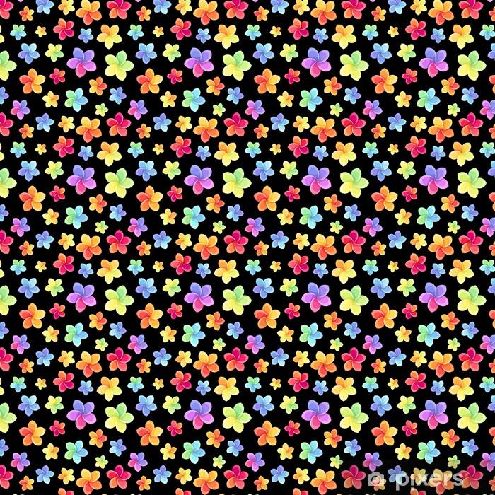 Måttanpassad vinyltapet Seamless färgglada blommor. Vektor illustration. - Blommor
